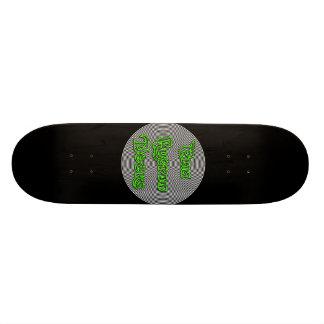 Skateboard cubierta espiral del logotipo del elia