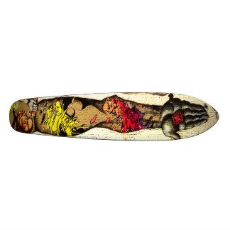 Skateboard De la mano la cubierta de la pintada de Streetart