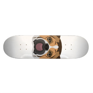Skateboard Dogo del inglés del ilustracion