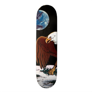 Skateboard Insignias lunares del remiendo del alunizaje de la