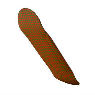 Skateboard Navidad clásico rojo y control verde de