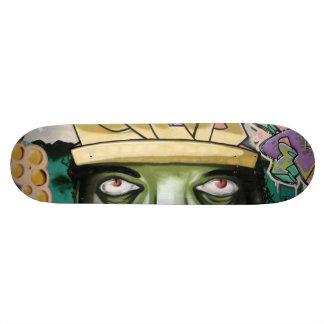 Skateboard Ojos coloridos del arte de la calle