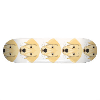 Skateboard Perrito Retriver de oro del ilustracion