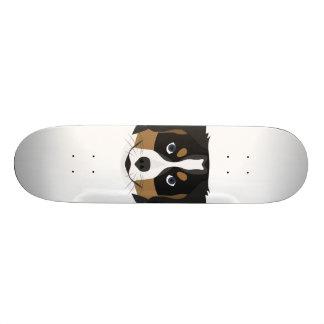 Skateboard Perro de montaña de Bernese del ilustracion