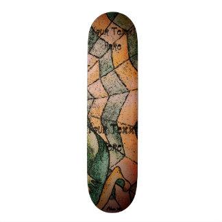 Skateboard sombras del arte retro del galón del extracto