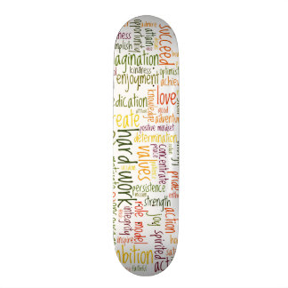 Skatedecks de motivación de las palabras #2 tablas de skate