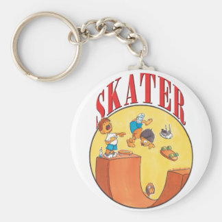 Skater #4 llavero redondo tipo chapa