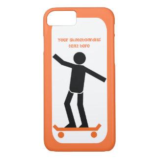 Skater en su personalizado del monopatín funda iPhone 7