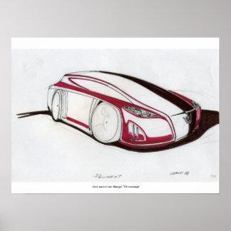 Sketc del coche del concepto impresiones