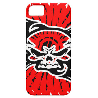 skull black and red iPhone 5 cárcasa