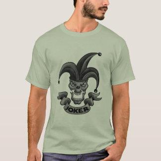 skull joker bw camiseta