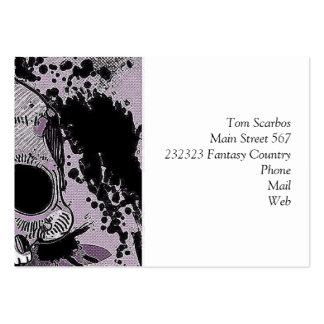 skull.toony enrrollado tarjetas de visita grandes