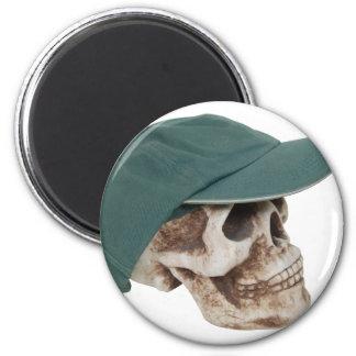 SkullBaseballCap032709 Imán