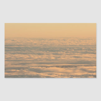 Sky with clouds in blue and pink sunset evening co pegatina rectangular