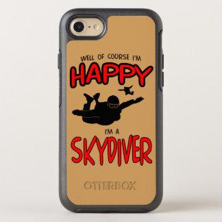 Skydiver feliz (negro) funda OtterBox symmetry para iPhone 8/7