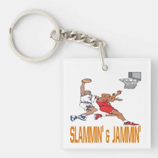 Slammin y Jammin Llavero Cuadrado Acrílico A Una Cara