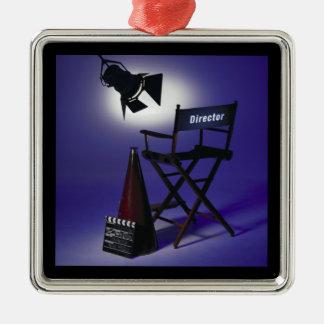 Slate del director, silla y luz 2 de la etapa ornamento para reyes magos