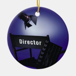Slate del director, silla y luz de la etapa adornos de navidad