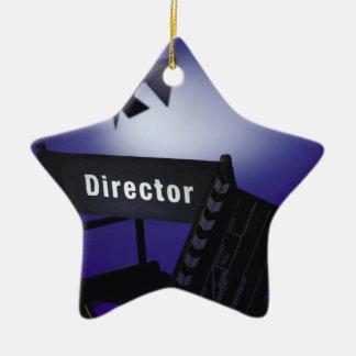 Slate del director, silla y luz de la etapa adorno para reyes