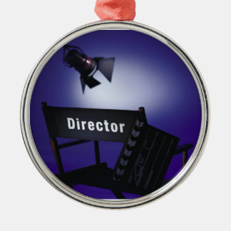 Slate del director, silla y luz de la etapa ornamento de reyes magos