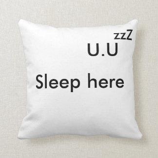 Sleep B&W Cojín Decorativo