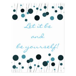 Slogan positivo postcard postal
