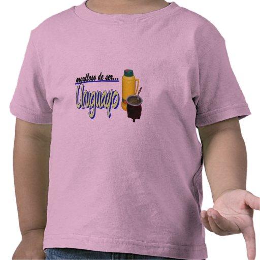 slogan Uruguay orgulloso mate Tshirts