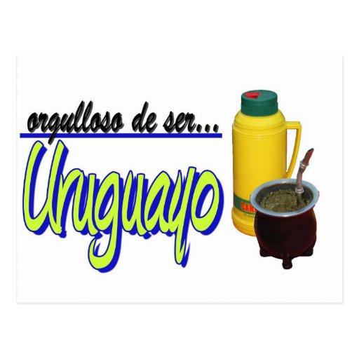 slogan Uruguay orgulloso mate Tarjetas Postales