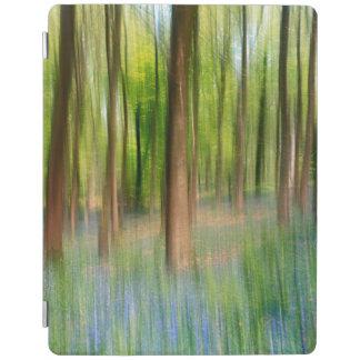 Smart Cover Para iPad Arbolado BRITÁNICO del roble del Bluebell de