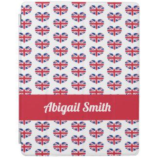 Smart Cover Para iPad Bandera BRITÁNICA en forma de corazón/Union Jack