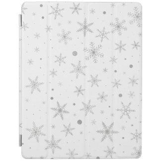 Smart Cover Para iPad Copo de nieve del centelleo - gris y Blanco de