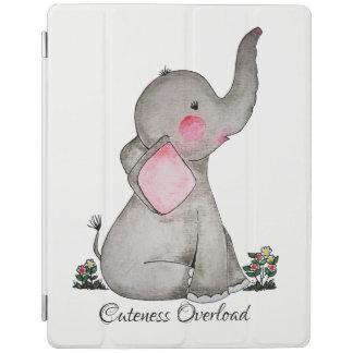 Smart Cover Para iPad El elefante lindo del bebé de la acuarela con se