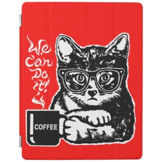 Smart Cover Para iPad Gato divertido motivado por el café