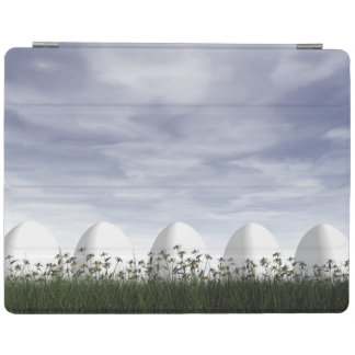 Smart Cover Para iPad Huevos de Pascua en naturaleza por día nublado -
