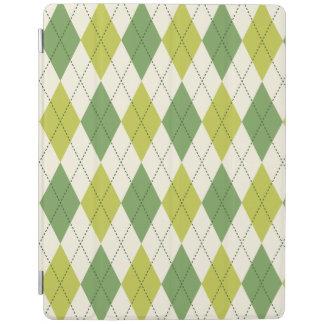 Smart Cover Para iPad Modelo geométrico verde retro de Argyle