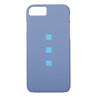 Smartphone funda en azul con puntos azul claros