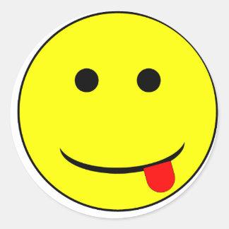 smiley 2 pegatina redonda