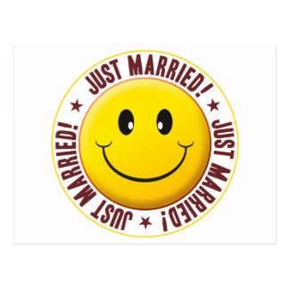 Smiley casado postal