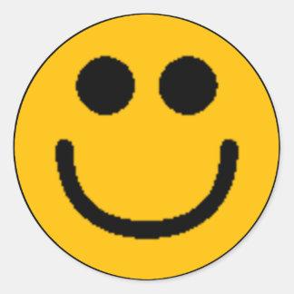 Smiley clasificados coloridos (véase la pegatina redonda
