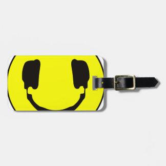 Smiley de DJ Etiquetas Para Maletas