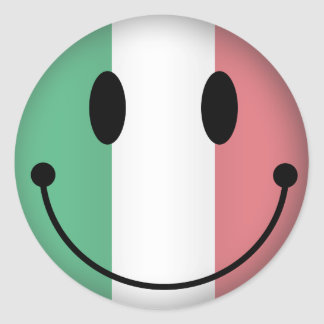 Smiley de Italia Pegatina Redonda