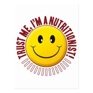 Smiley de la confianza del nutricionista postal