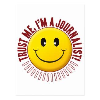 Smiley de la confianza del periodista postal