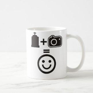 Smiley de la fotografía del cementerio taza de café