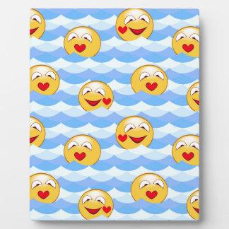 Smiley de la onda placa expositora