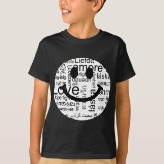 Smiley de la tipografía del amor camiseta