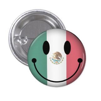 Smiley de México Chapa Redonda De 2,5 Cm