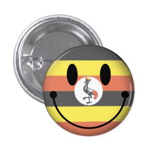 Smiley de Uganda Chapa Redonda De 2,5 Cm