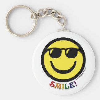 Smiley del orgullo gay llavero personalizado