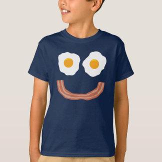 Smiley del tocino de los huevos camiseta